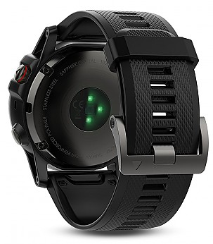 Fenix 5 Slate Gray Black Band