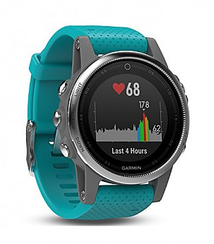 Fenix 5S Silver with turquoise band