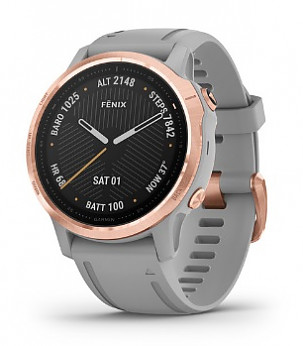fenix 6S Sapphire Pro Rose Gold with Gray Band