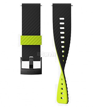 7 SILICON STRAP 24MM BLACK/LIME