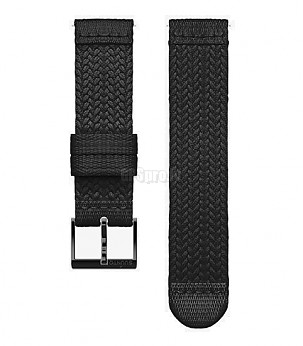 FITNESS 3 BRAIDED STRAP 20MM BLACK/BLACK S